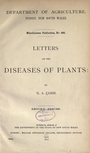 Letters on the diseases of plants.