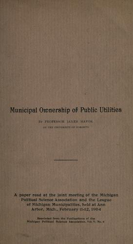 Municipal ownership of public utilities