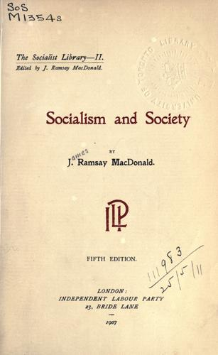Socialism and Society.