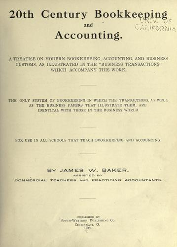 20th century bookkeeping and accounting.