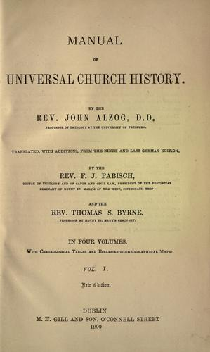 Manual of universal church history