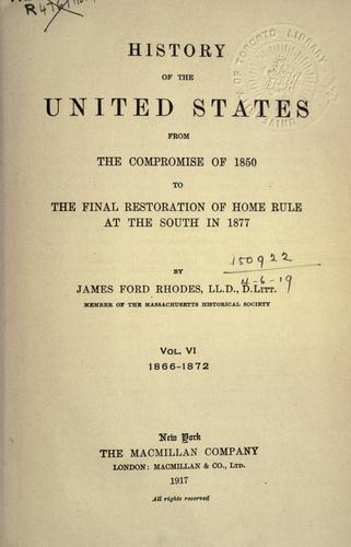 Download History of the United States from the compromise of 1850.