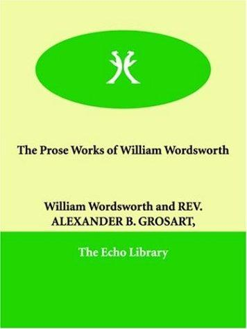 Download The Prose Works of William Wordsworth