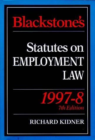Download Blackstone's Statutes on Employment Law (Blackstone's Statute Books)