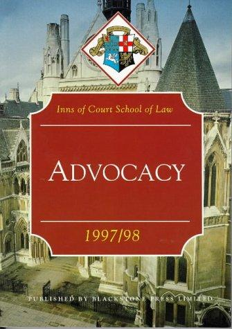 Advocacy (Inns of Court Bar Manuals)