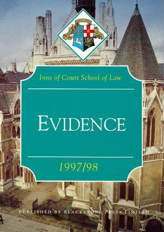 Download Evidence (Inns of Court Bar Manuals)