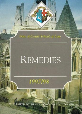 Download Remedies (Inns of Court Bar Manuals)