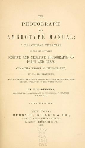 Download The photograph and ambrotype manual