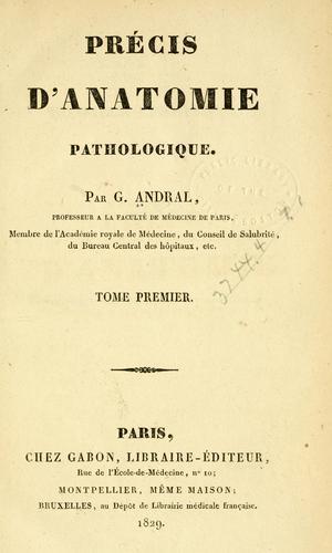 Précis d'anatomie pathologique
