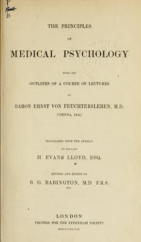 Download The principles of medical psychology