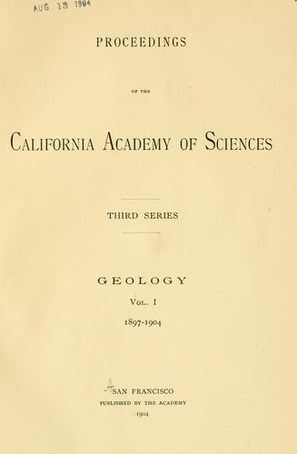 Proceedings of the California Academy of Sciences.