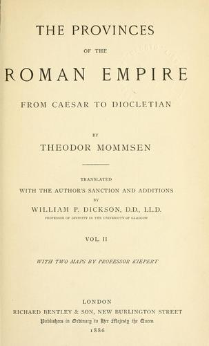 Download Provinces of the Roman Empire, from Caesar to Diocletian.