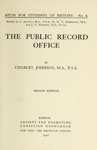 The Public record office