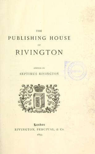 The publishing house of Rivington.