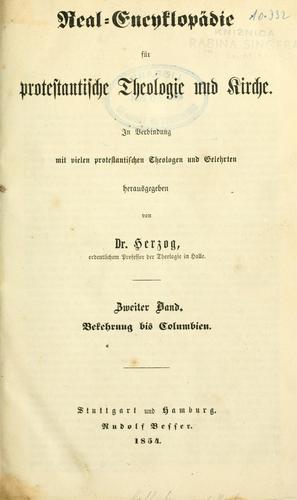 Download Realencyklopädie für protestantische Theologie und Kirche.