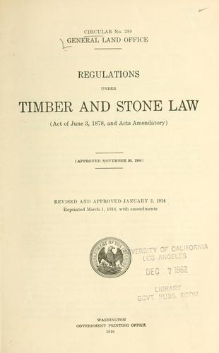 Regulations under timber and stone law