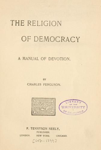 Download The religion of democracy