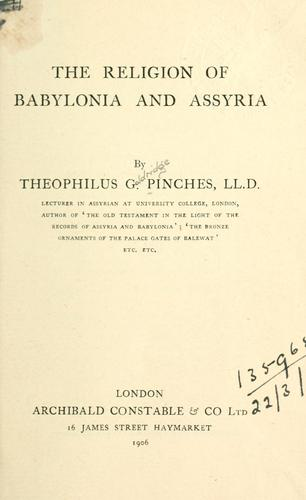 Download The religion of Babylonia and Assyria.