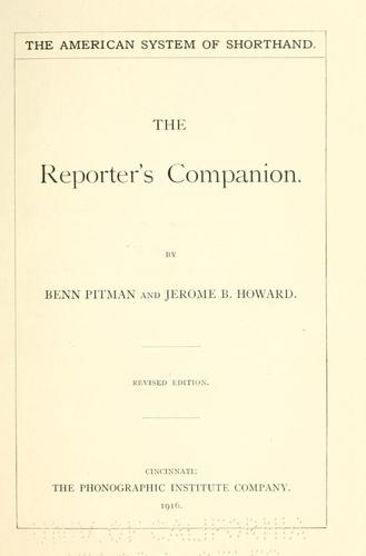 Download The reporter's companion