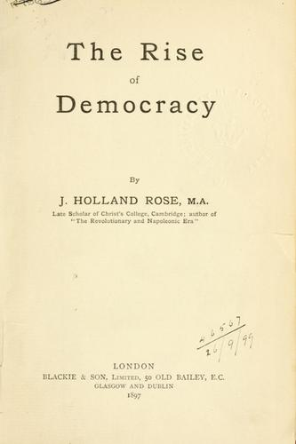 Download The rise of democracy.