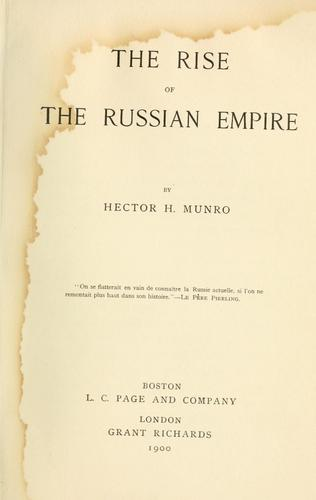 The rise of the Russian empire.