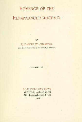Download Romance of the renaissance châteaux