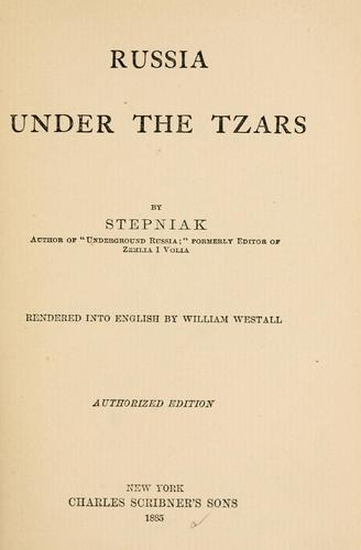 Download Russia under the tzars