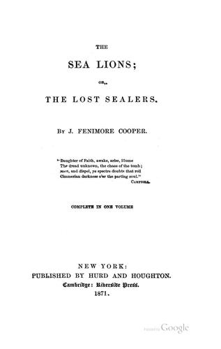 Download The Sea Lions; Or, The Lost Sealers