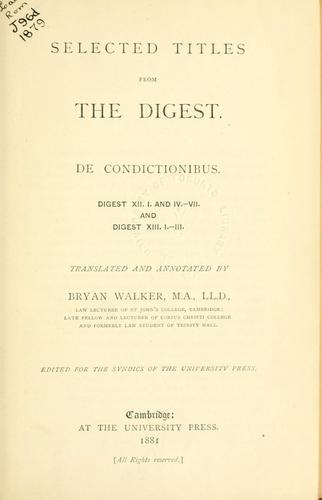 Selected titles from the Digest