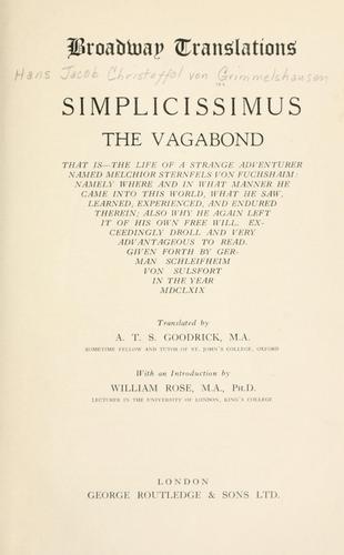 Simplicissimus the vagabond