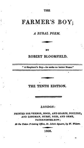 The farmer's boy; a rural poem ed. by C. Lofft. On fine paper.