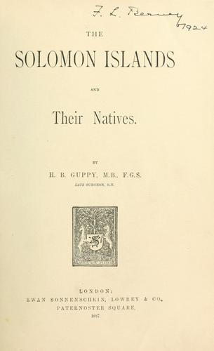 Download The Solomon Islands and their natives