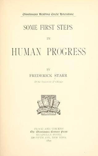 Download Some first steps in human progress.