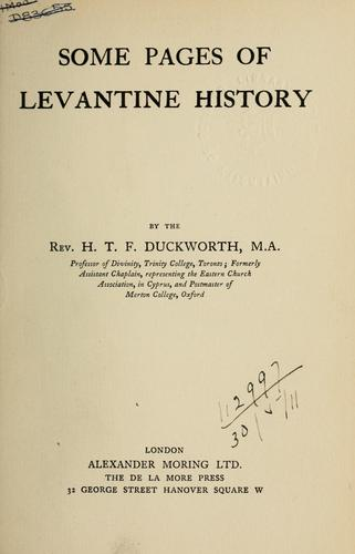 Some pages of Levantine history.