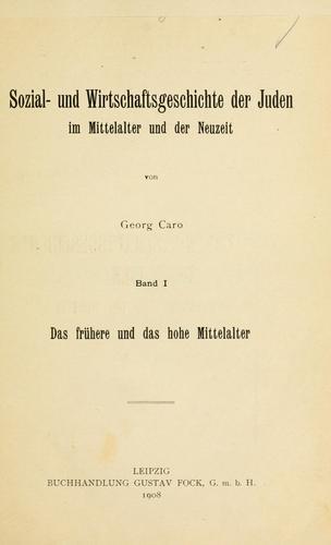 Download Sozial- und Wirtschaftsgeschichte der Juden im Mittelalter und der Neuzeit.