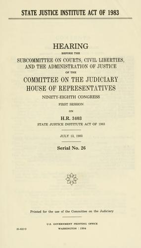 State Justice Institute Act of 1983