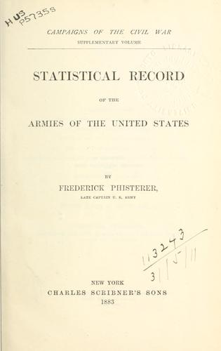 Download Statistical record of the armies of the United States.