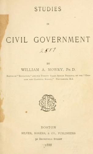 Download Studies in civil government