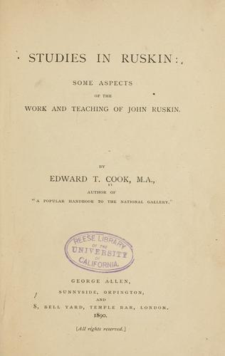 Studies in Ruskin