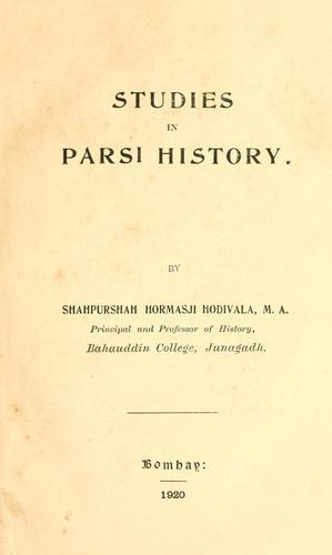 Download Studies in Parsi history
