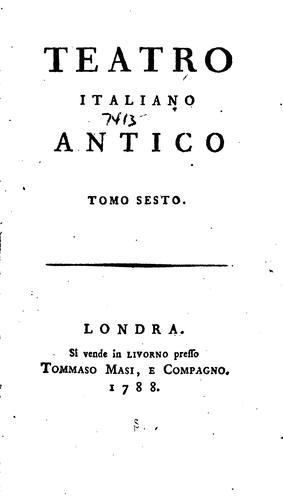 Teatro italiano antico