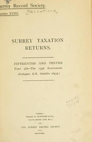 Surrey taxation returns