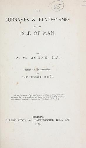 Download The surnames & place-names of the Isle of Man.