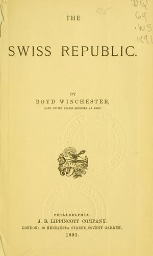 Download The Swiss republic