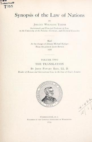 Synopsis juris gentium