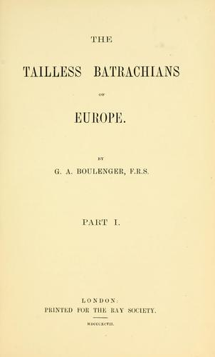 Download The tailless batrachians of Europe