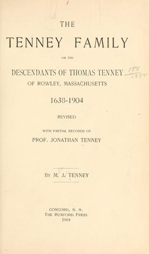 Download The Tenney family