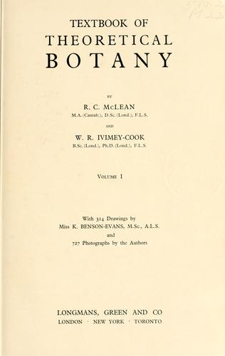 Textbook of theoretical botany