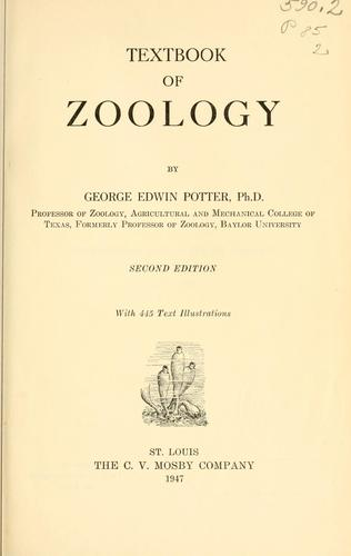 Textbook of zoology
