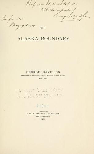 The Alaska boundary